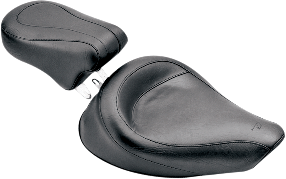 Mustang Vintage Black Vinyl Motorcycle Solo Seat 06-17 Harley Dyna FXDF FXDL FXD