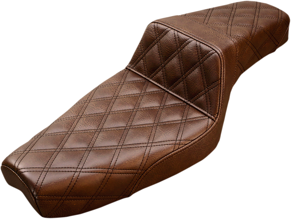 Saddlemen Brown Step up 4.5 Gallon Motorcycle Seat for 04-18 Harley Sportster XL