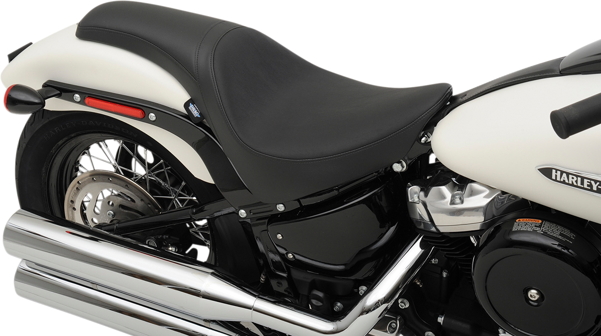 Drag Specialties Black Vinyl Predator Seat for 18-19 Harley Softail FLDE FLHC