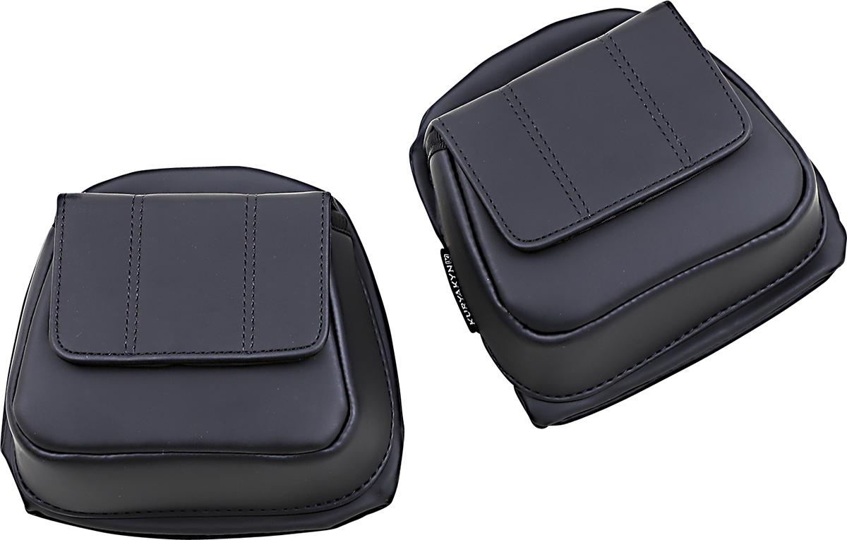 Kuryakyn 5208 Black Lower Fairing Door Pocket Bags 14-20 Harley Touring FLTRU