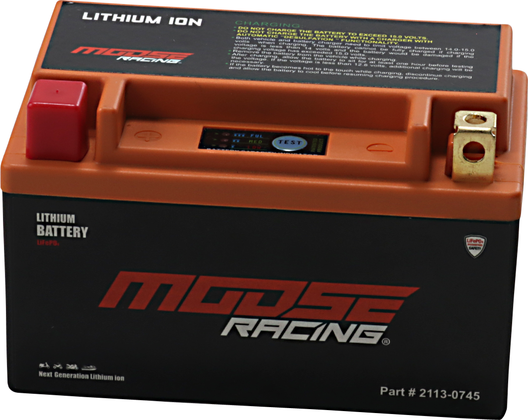 Moose Racing Lithium Ion Battery 1986-2014 Aprilia Kymco Polaris Yamaha Kawasaki
