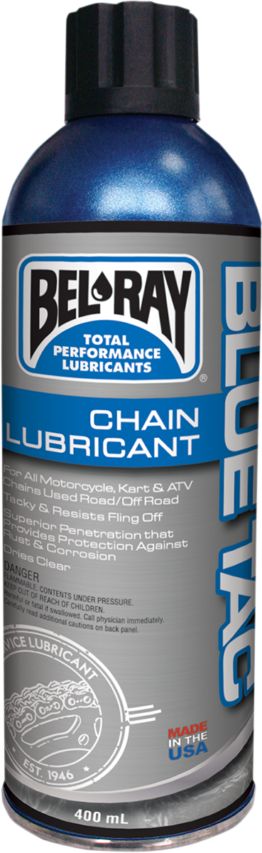 Bel Ray Blue Tac 13.5 oz Fully Synthetic Aerosol Spray Can Chain Lubricant