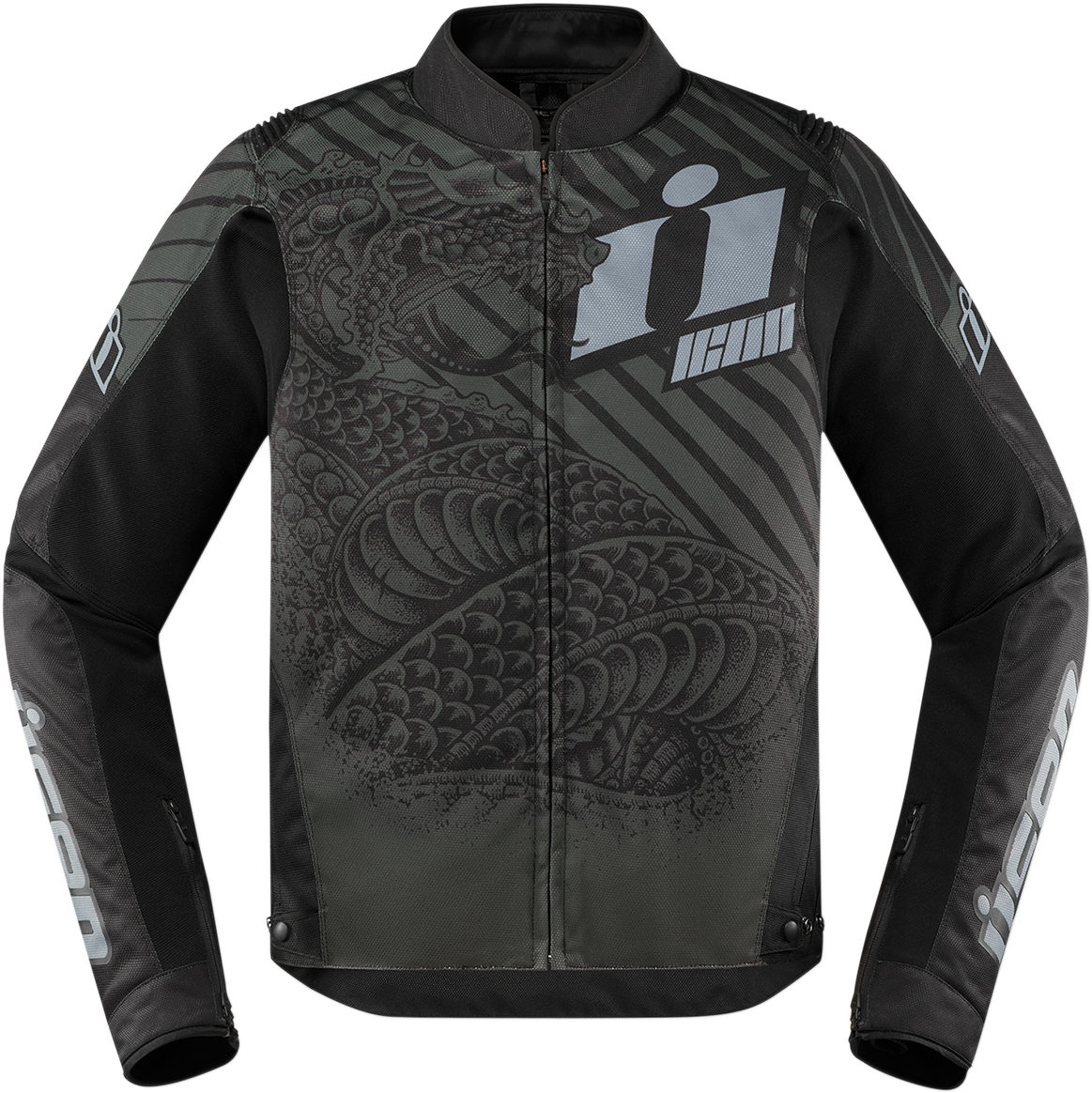 Icon Mens Zip Up Overlord SB2 Serpecant Motorcycle Riding Street Racing Jacket
