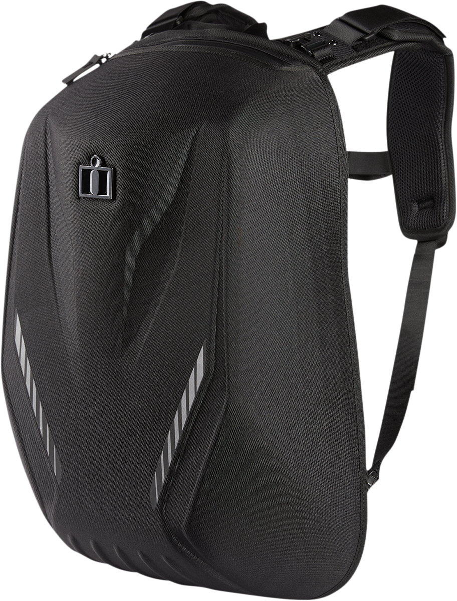 Icon Speedform Black Reflective Motorcycle Riding Casual Street Backpack