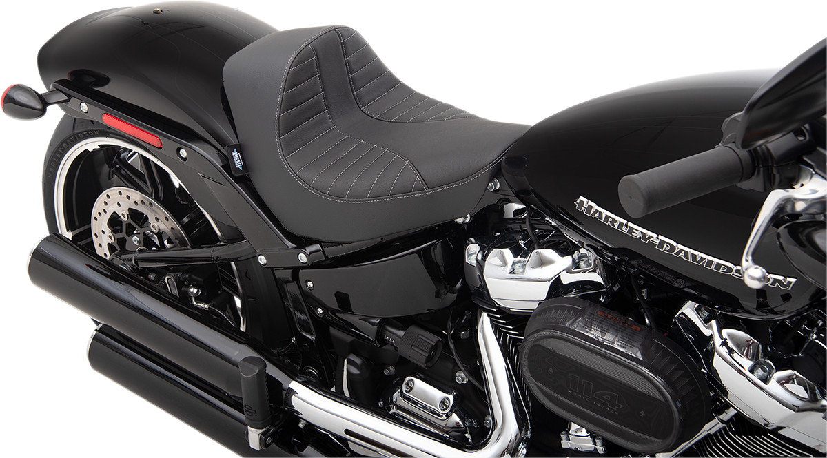 Drag Specialties Ez Mount Scorpion Stitched Solo Seat 18-20 Harley Softail FXBR