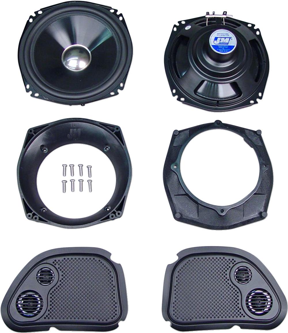 J&M Front Fairing Performance 200W Speaker Kit for 06-13 Harley Touring FLTR