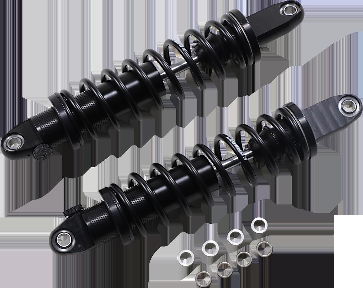 "Legend Black 14"" Revo-A Standard Rear Shocks for 17-19 Harley Street Rod XG 750A"