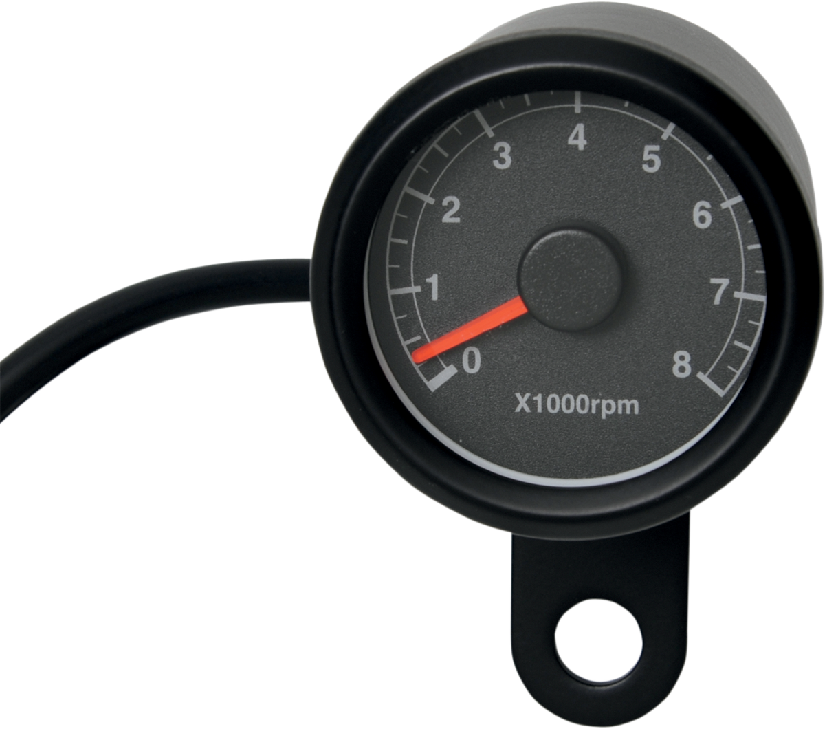 "Drag Specialties Black 1 7/8"" Matte Electronic Motorcycle Tachometer Harley"
