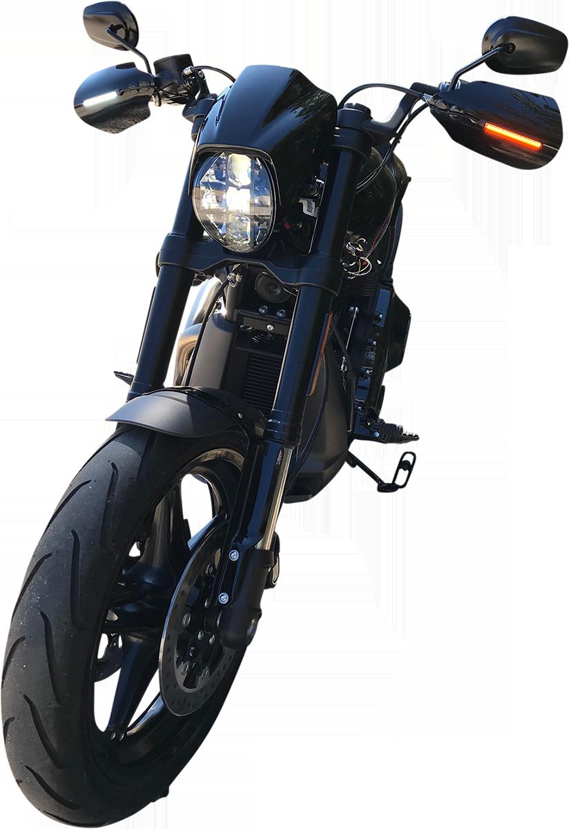 Custom Dynamics Universal Amber White LED Turn Signals Light Bar Harley