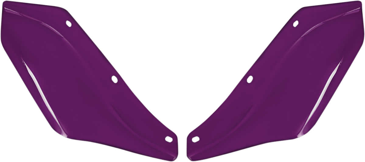 Memphis Shades Purple Front Fairing Wind Deflectors for 96-13 Harley Touring