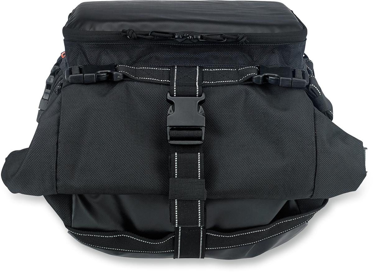 Biltwell Textile Black Exfil-80 Rear Motorcycle Rack Bag for Harley Davidson