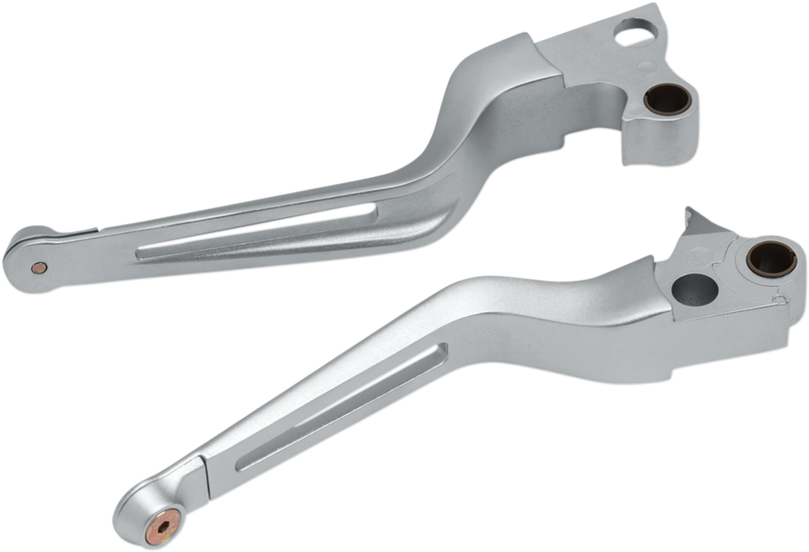 Kuryakyn 6681 Silver Handlebar Lever Set for 96-17 Harley Softail Touring XL FXS