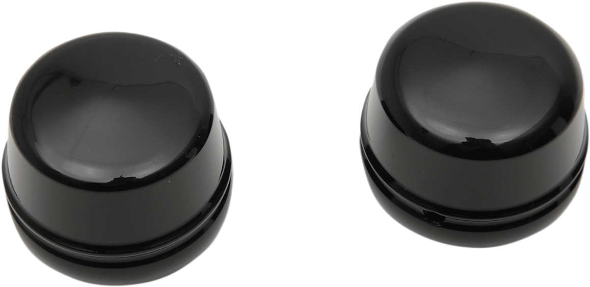 Drag Specialties Gloss Black Front Axle Caps for 00-07 Harley Touring FLHT FLHX