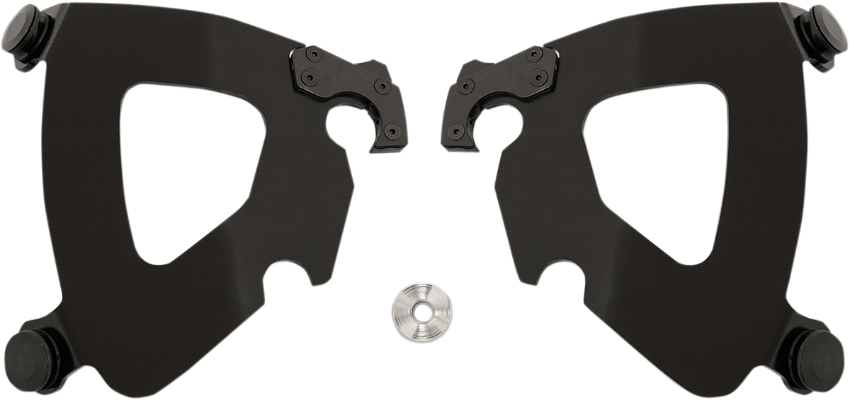Memphis Shades Black Gauntlet Fairing Mounting Brackets for 14-17 Harley FXDL