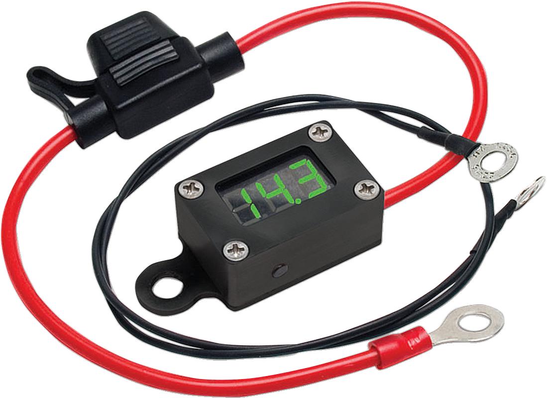 Jims Universal Motorcycle UTV Onboard Digital Charging System Battery Voltmeter