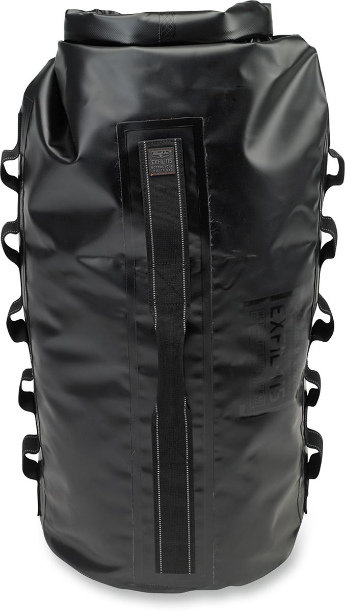 Biltwell Black Waterproof Textile EXFFIL-115 Motorcycle Roll Top Bag For Harley