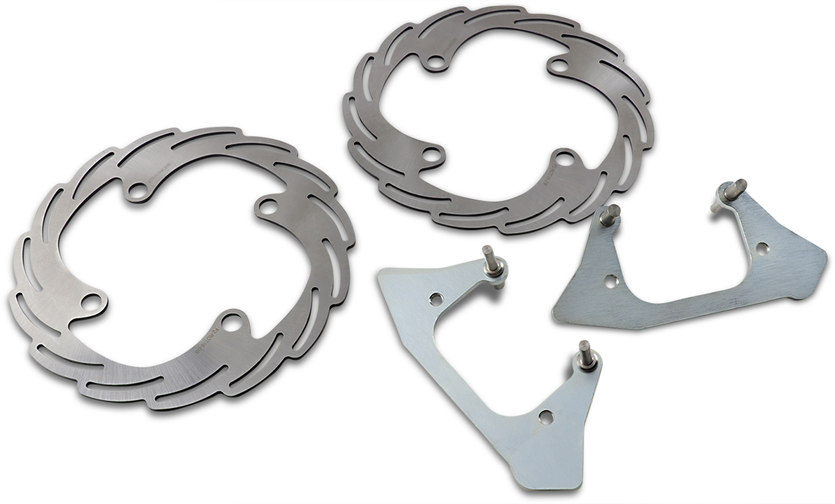 Trinity Racing UTV Rear Level 2 Big Brake Kit for 14-19 Polaris RZR 1000 XP RS1