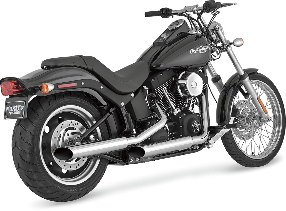 Python Chrome Mamba Slash Cut Slip On Mufflers 07-17 Harley Softail Rocker  FXST