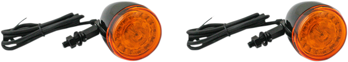 Custom Dynamic Probeam Black Amber LED Motorcycle Turn Signals for Harley