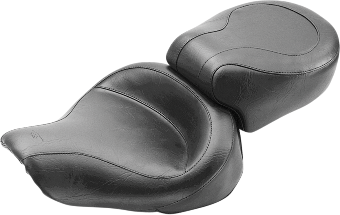 Mustang Wide Vintage 2-Up Motorcycle Solo Seat 96-03 Harley Dyna FXDL FXD