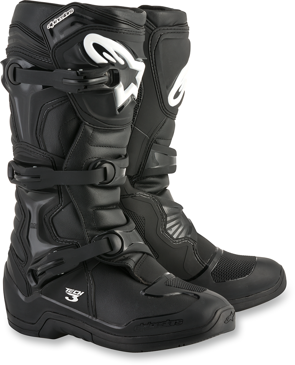 Alpinestars Pair Mens Armored Tech 3 Off road Riding Dirt Bike Racing Boots