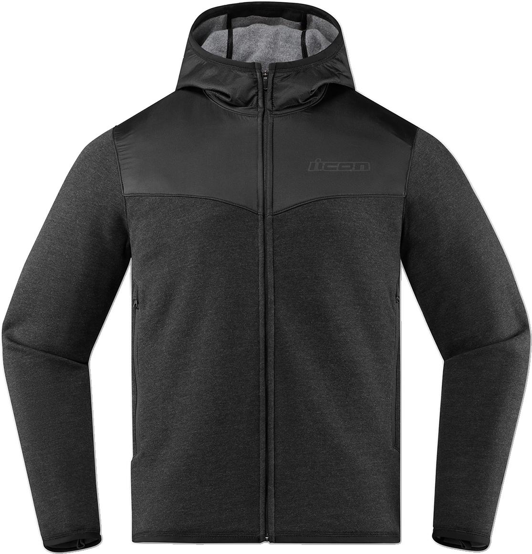 Icon Mens Malice Black Fleece D30 Armored Zip up Hooded Hoody Sweatshirt