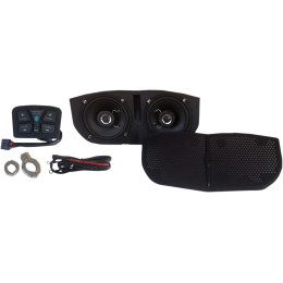 BLUETOOTH®-ENABLED SPEAKER SYSTEM KIT FOR MEMPHIS SHADES BATWING FAIRINGS