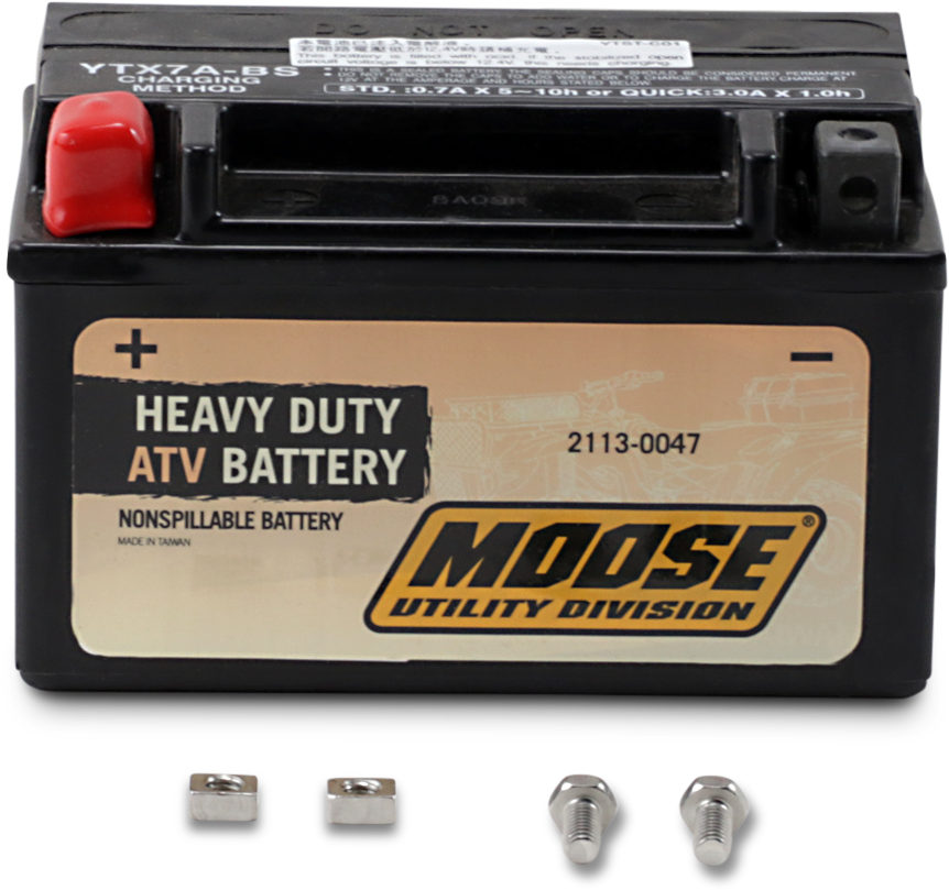 Moose Heavy Duty YTX7A Maintenance Free Battery for 01-11 Kasea Kawasaki Suzuki