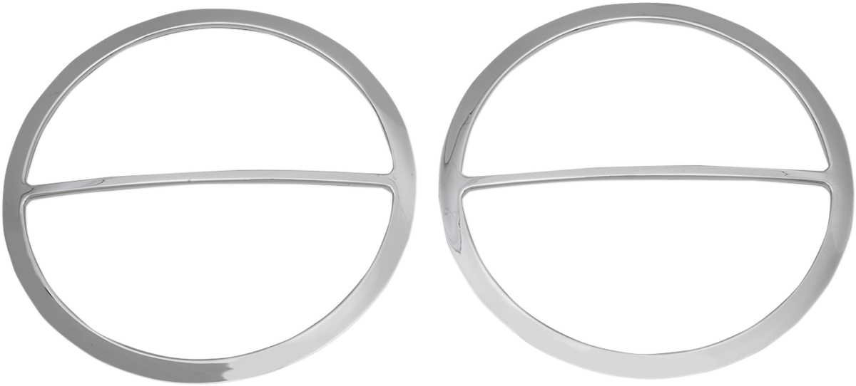 Drag Specialties Chrome Front Speaker Trim Rings for 96-13 Harley Touring FLHX