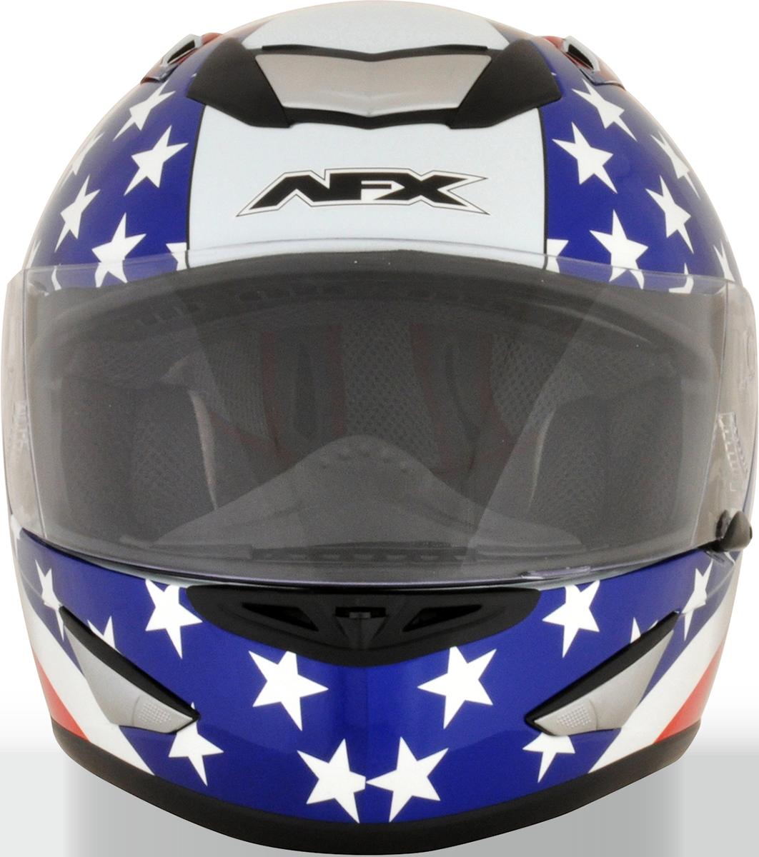 AFX FX95 Medium White American Flag Motorcycle Riding Street Racing Helmet