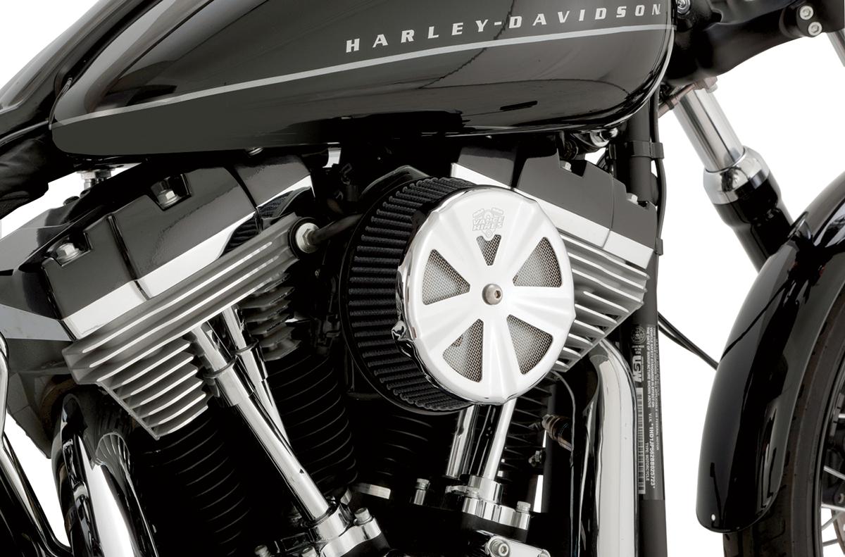 Vance & Hines Chrome Skullcap Crown VO2 Naked Air Filter Insert for Harley