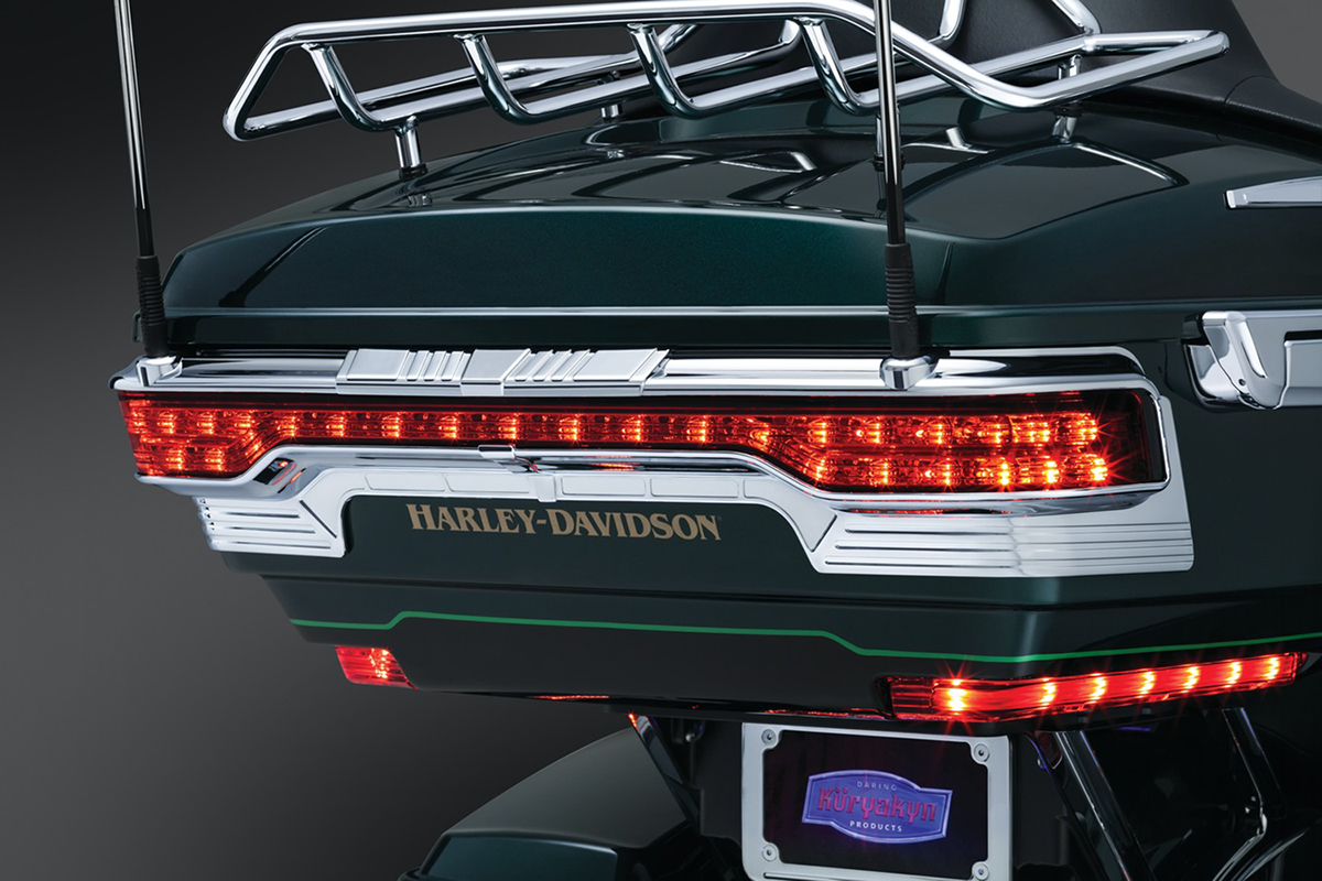Kuryakyn 6910 Chrome Tri Line Tour Pak Trim Accents for 14-19 Harley Touring
