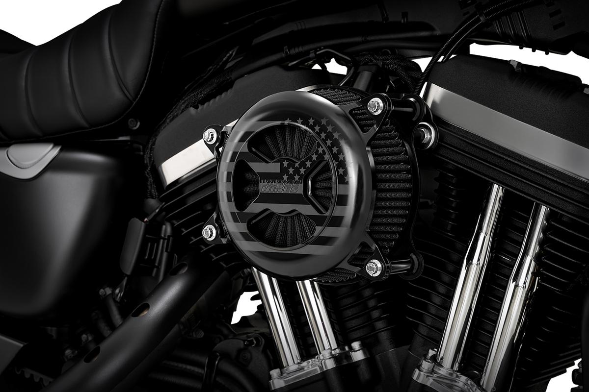 Vance & Hines Black VO2 America Air Filter Cleaner Kit 91-21 Harley Sportster