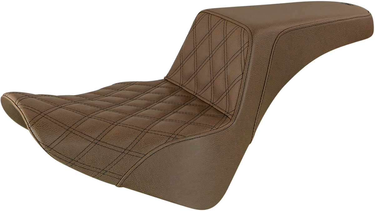 Saddlemen Step Up Brown Motorcycle Seat 18-20 Harley Softail FLSL FLHC FLDE