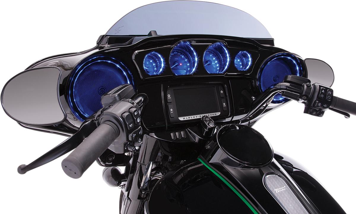 Ciro Black Accent LED Dash Lights for 14-19 Harley Touring FLHX FLHTCUL FLHTK