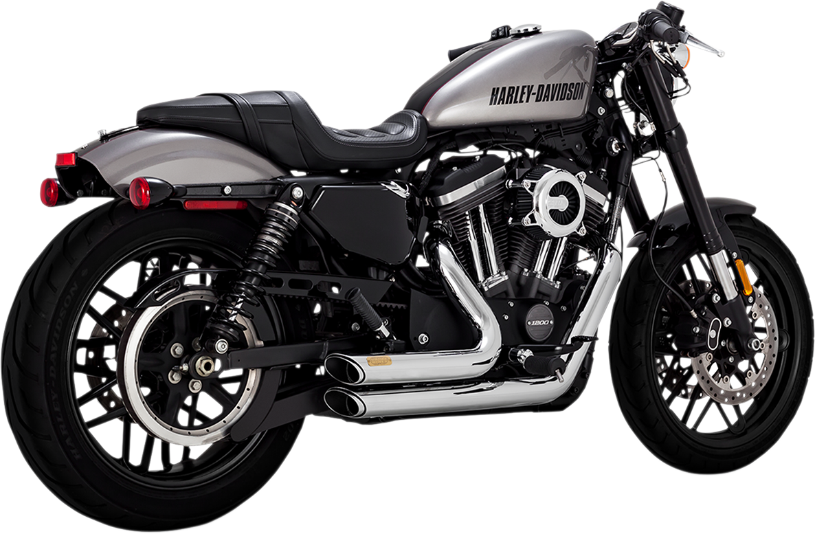 Vance & Hines Chrome Shortshots Slash Cut Exhaust for 14-19 Harley Sportster XL