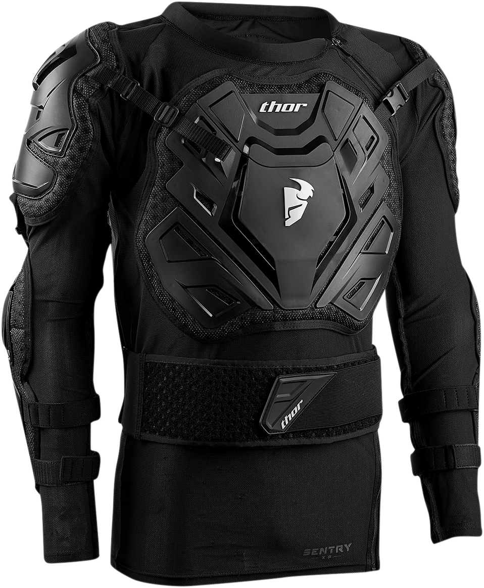 Thor Black Unisex Textile Off Road Sentry XP Guard Dirt Bike Racing Armored
