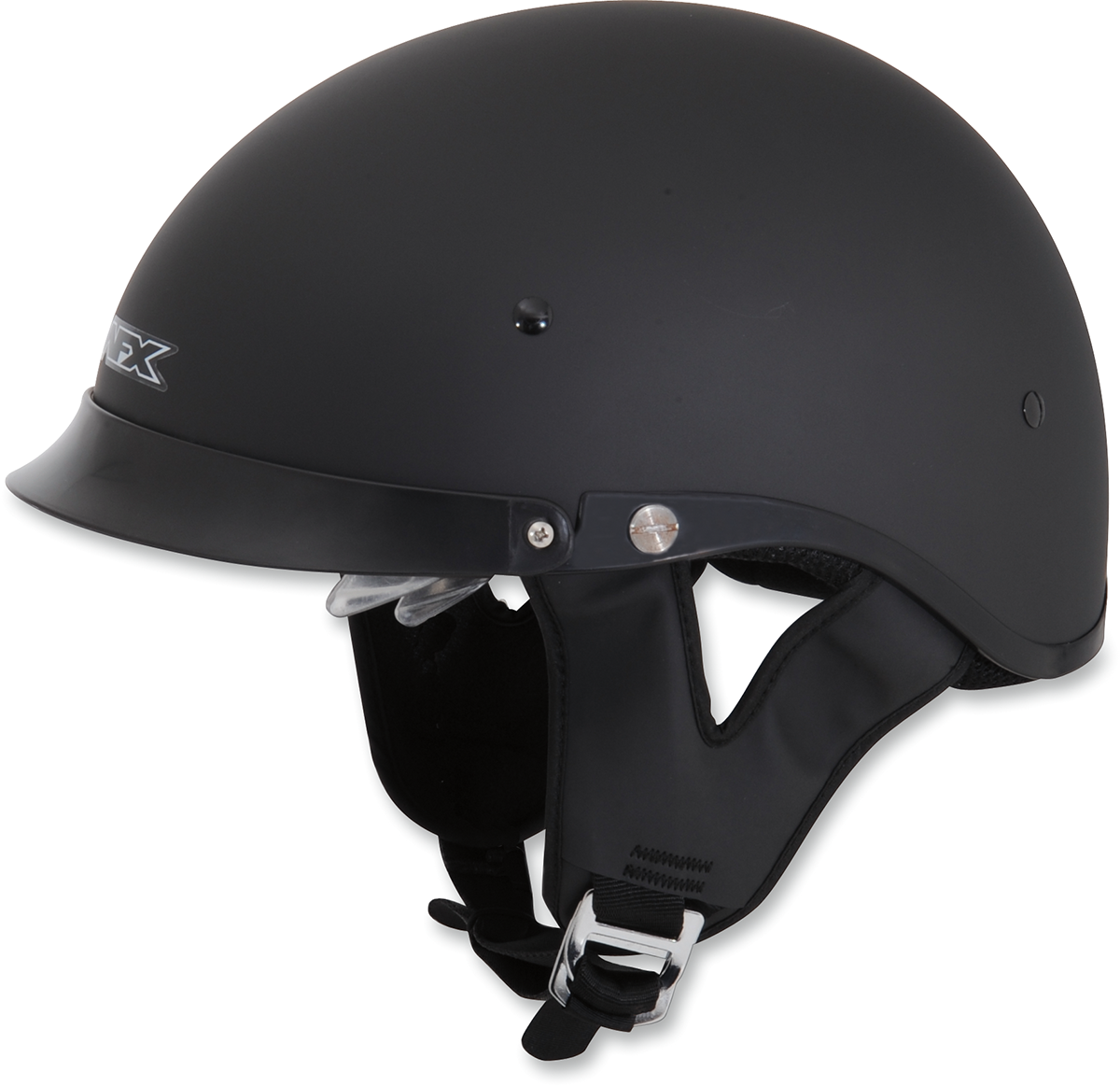 AFX Unisex FX200 Solid Flat Black Motorcycle Riding Street Beanie Half Helmet