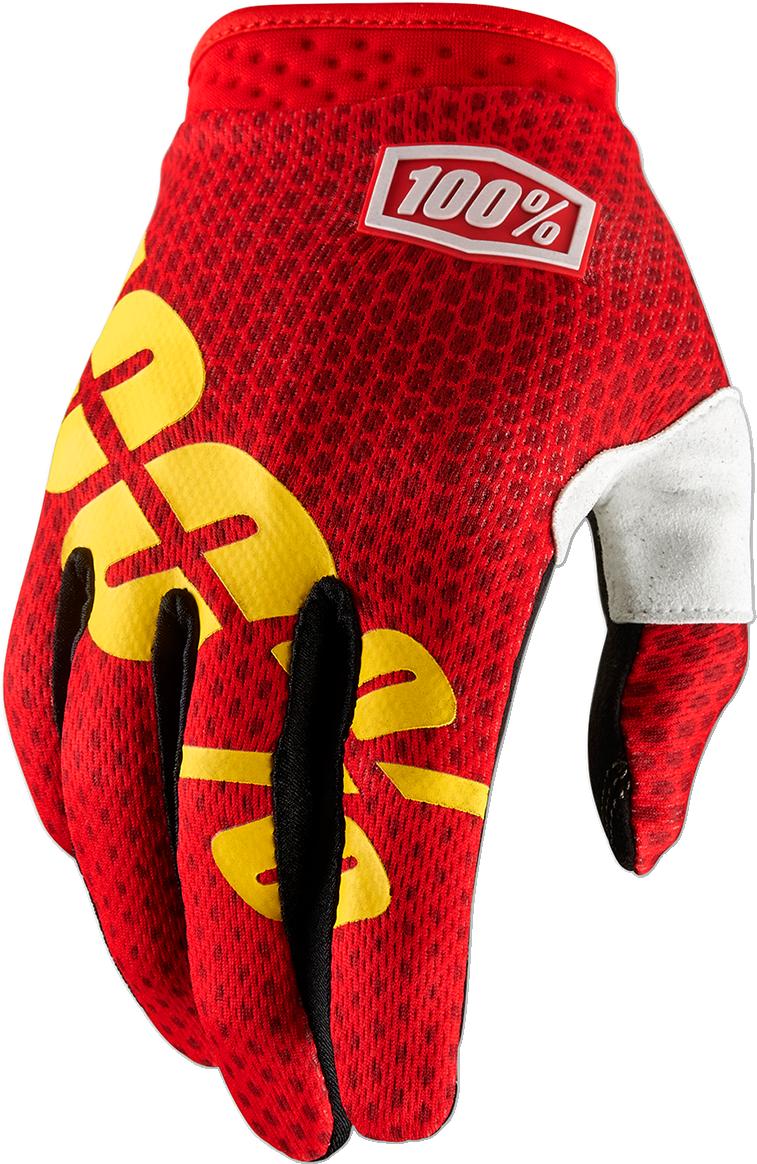 100% I-Track Dirt Bike Motocross Motorcycle ATV Short Slip-On Gloves S-XXL