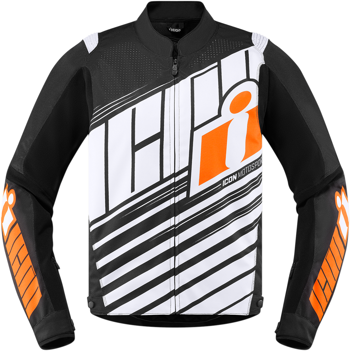 Icon Orange Overlord SB2 Textile Motorcycle Riding Street Racing Armored Jacket