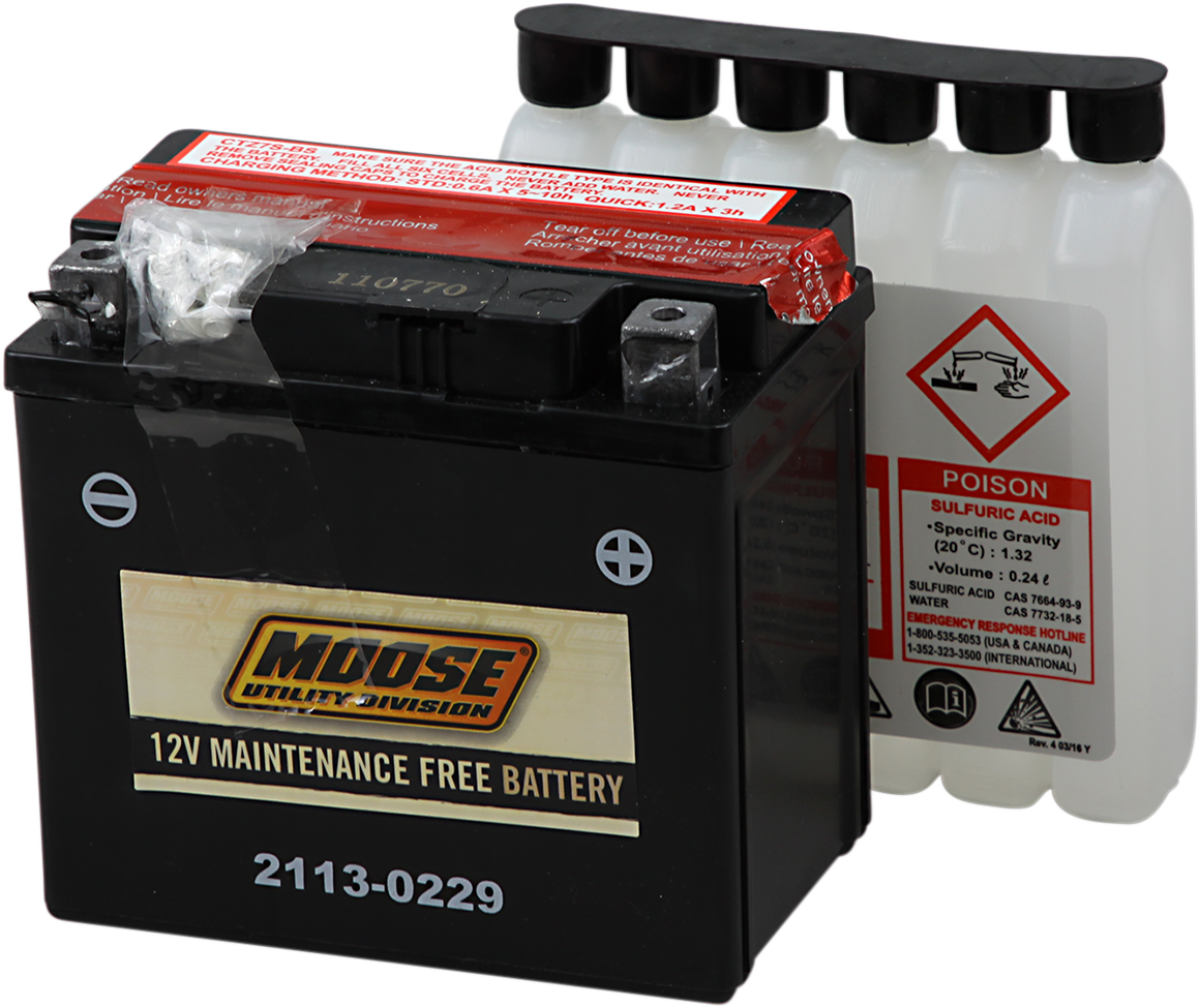 Moose YTZ7S Maintenance Free Battery for 06-17 Honda TRX450R Yamaha Raptor