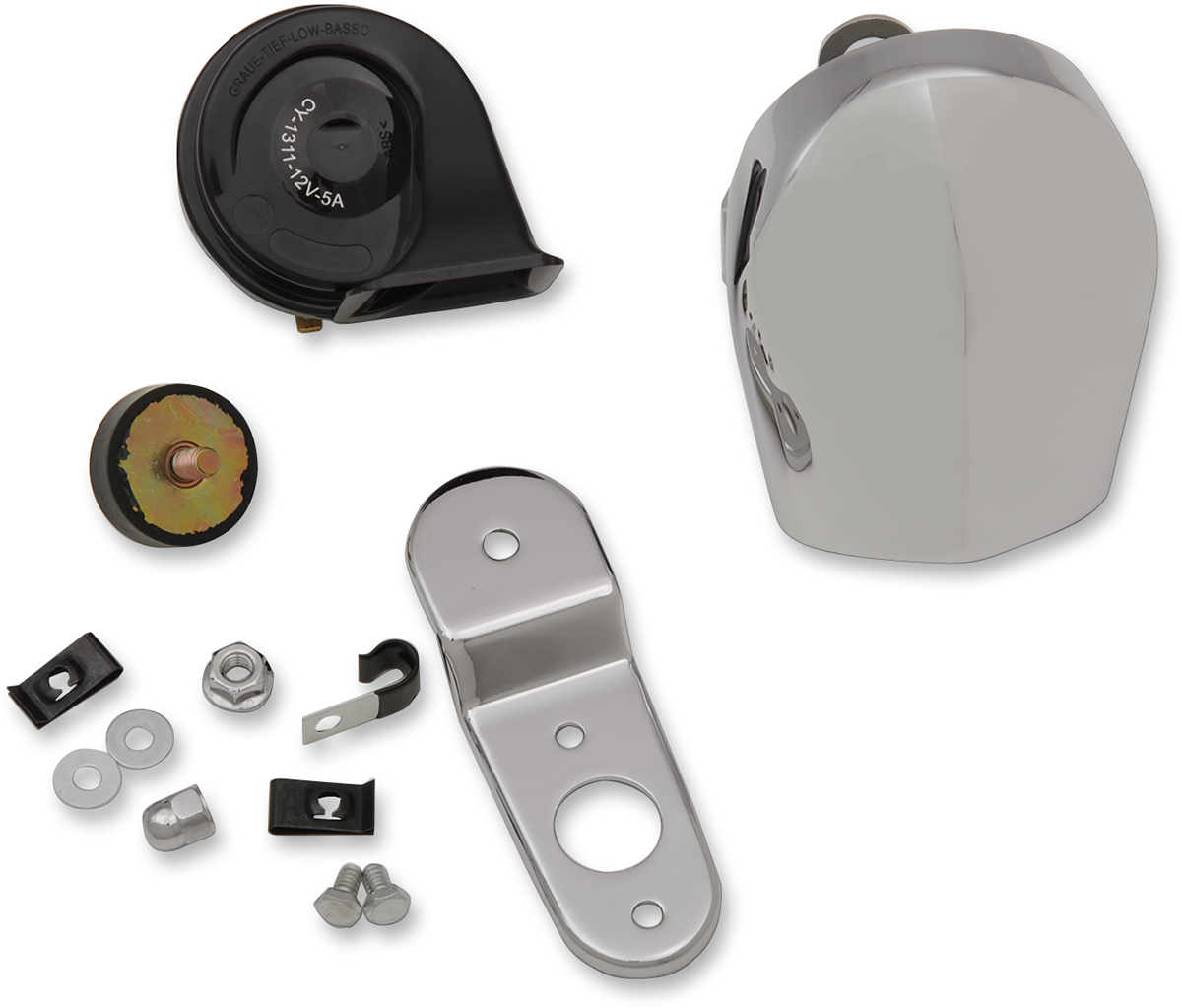 Drag Specialties Chrome 110db Electric Horn Kit For 90-19 Harley Dyna Touring XL