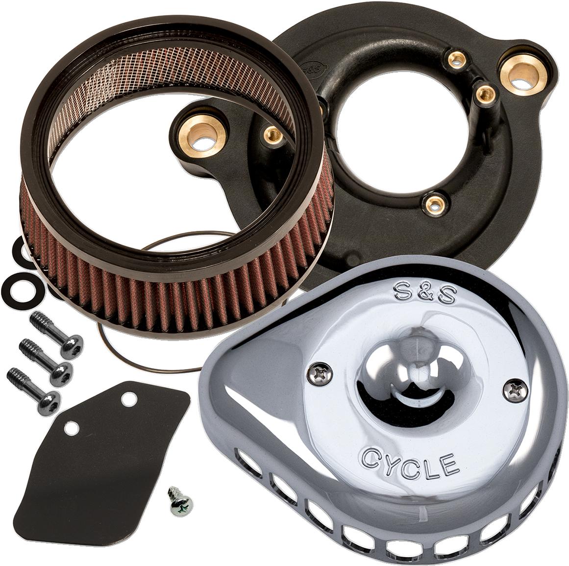 S&S Chrome Stealth Mini Teardrop Air Cleaner Kit for 08-17 Harley Touring FLSL