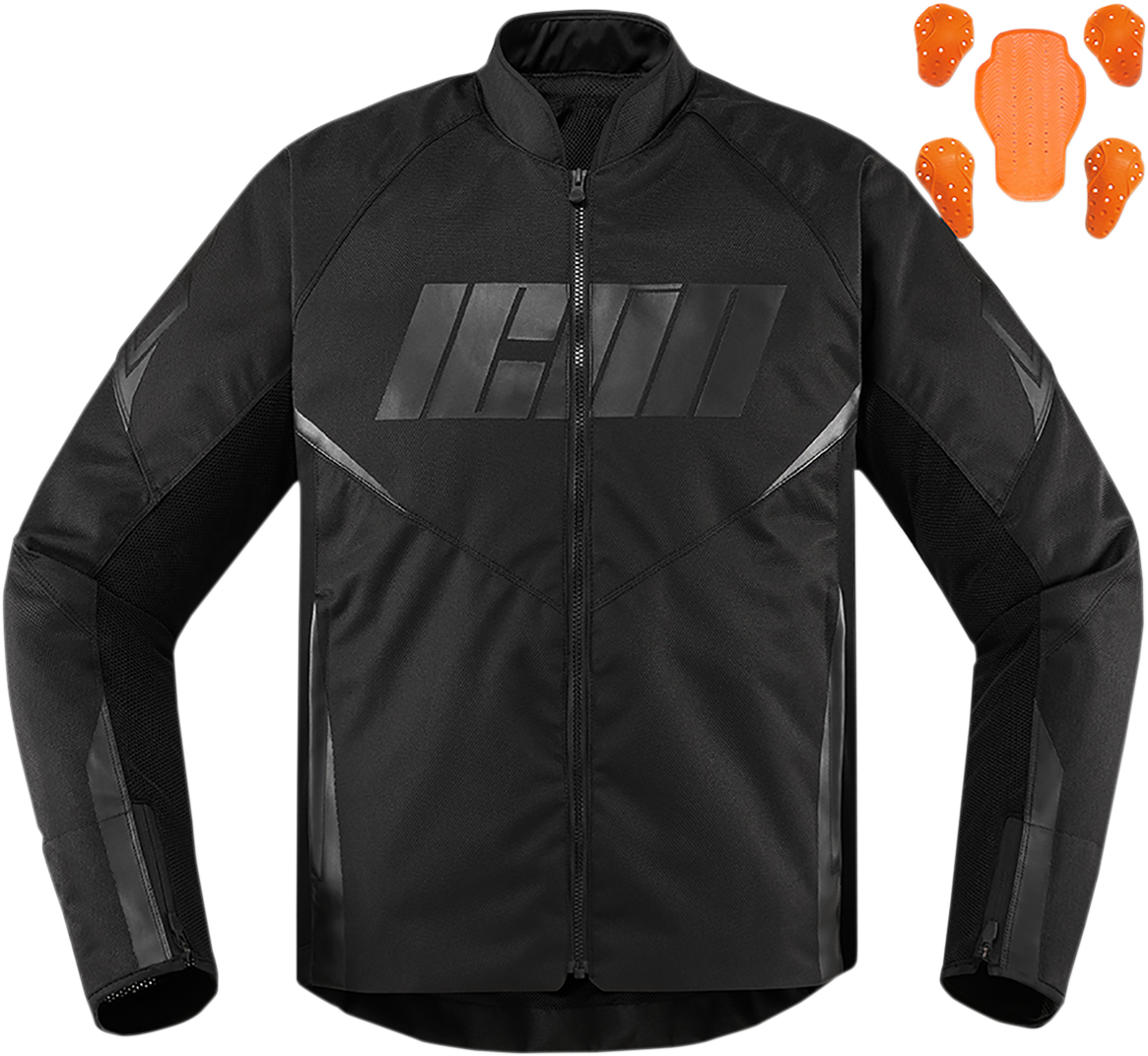 Icon Hooligan Adult Mens Motorcycle Riding Street Racing D30 CE Armored Jacket