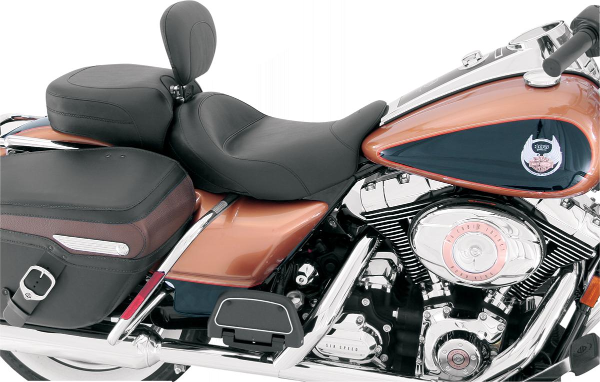 Mustang Vintage Smooth Solo Seat & Backrest 08-19 Harley Touring FLHX FLHR FLTR