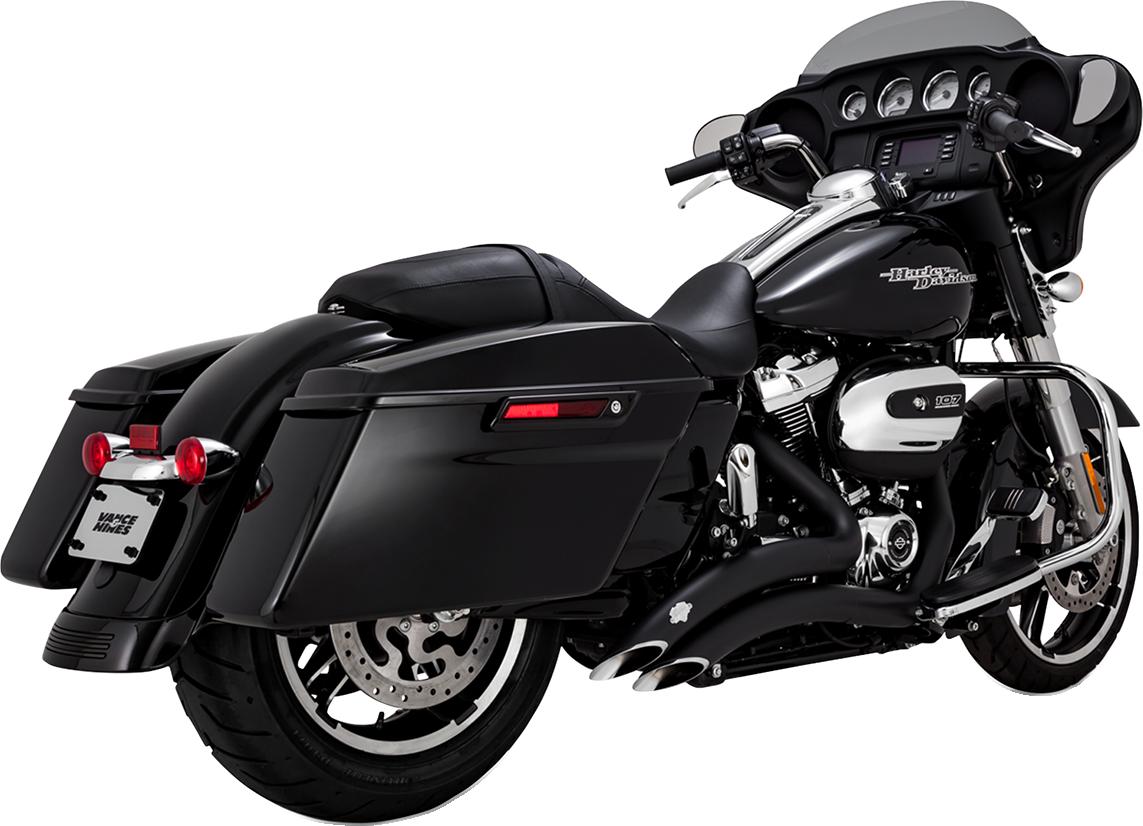 Vance & Hines Black Big Radius Exhaust System for 17-18 Harley Touring FLHX FLHR