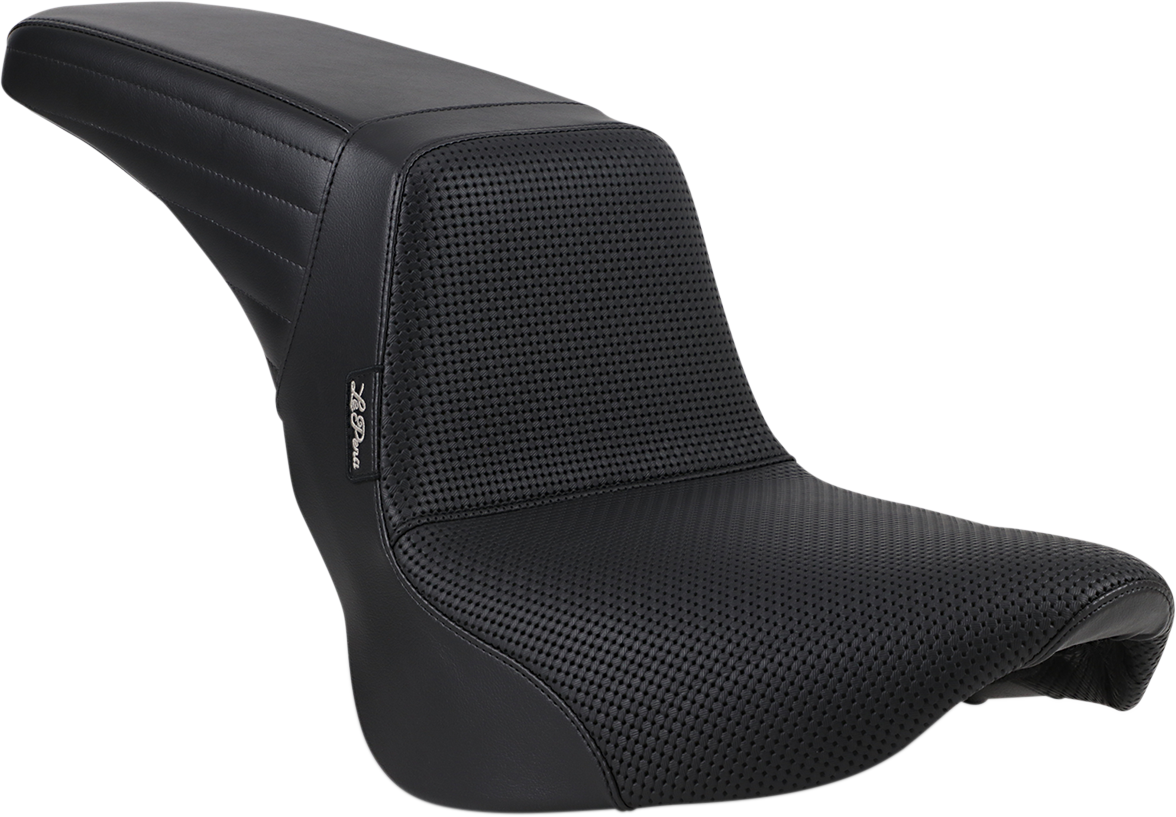 Le Pera Kickflip Basketweave 2 Up Motorcycle Seat 18-19 Harley Softail FLFB