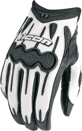 Icon White ARC Small Motorcycle Riding Street Racing Womens Gloves
