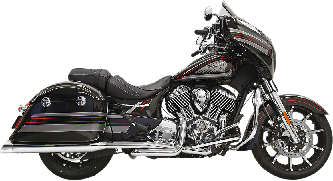 Bassani 2-2 Chrome Slash Cut True Dual Exhaust for 14-17 Indian Chieftain