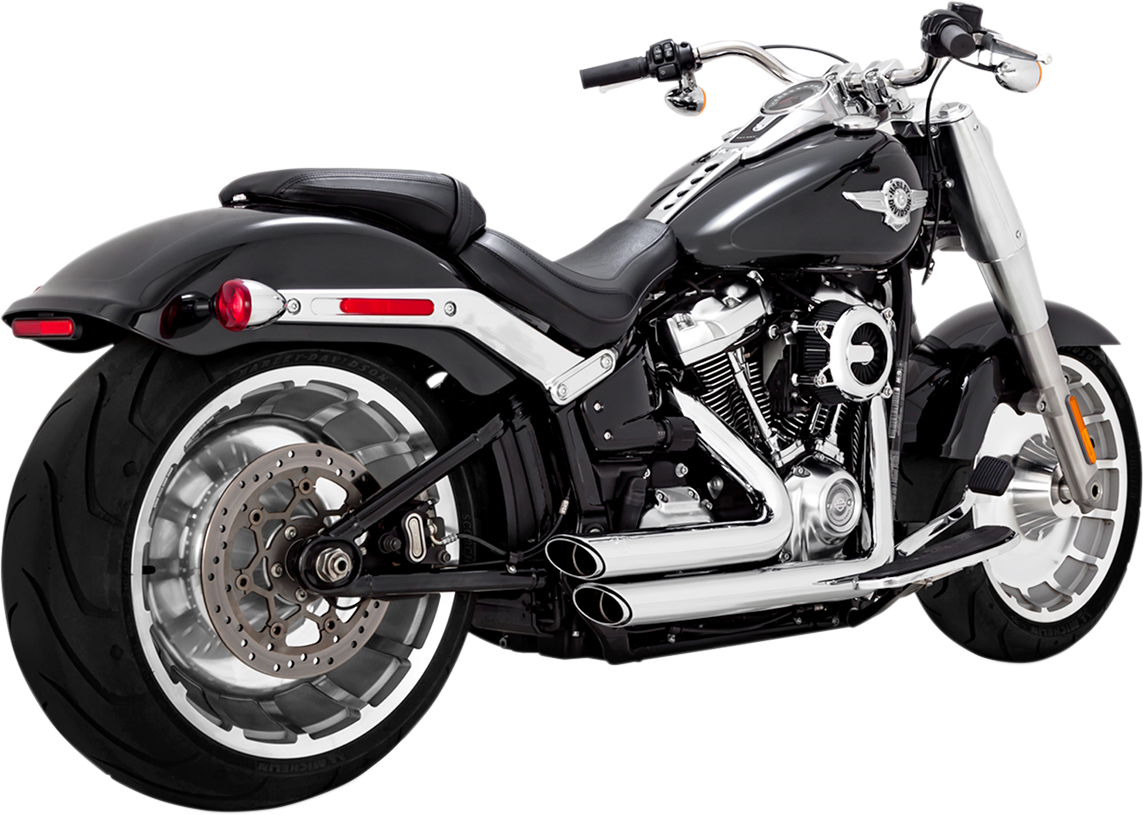 Vance & Hines Chrome Shortshots Staggered Exhaust for 2018 Harley Fat Boy FXBR